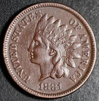 1881 INDIAN HEAD CENT - With LIBERTY - Near XF EF Details