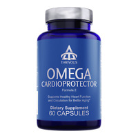 Thrivous Omega: Anti-Aging Cholesterol Heart Supplement Garlic Fish Oil