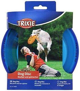 Trixie Dog Frisbee Plastic Bite Proof Disc 23 cm Diameter Colours: Blue, Orange
