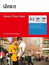 A3 Photo Paper High Glossy 180Gsm Inkjet Paper Inkjet Printing - 60 Sheet Uinkit