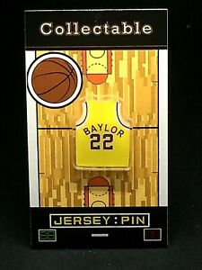 Los Angeles Lakers Elgin Baylor jersey lapel pin-Classic HARDWOOD Collectable