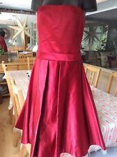 Ronit Zilkha burgandy 100% Silk shoestring strap dress size 12