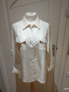 Pure collection Ivory Silk Blouse Size 18