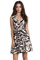 Diane Von Furstenberg DVF RENNA Leopard Dress Wool/Silk S 4 (preowned)