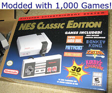 Nintendo NES Classic Edition Mini Hacked PRO Modded w/1,000+ Games SNES Genesis