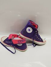 All Star Converse Chuck Taylor Hi-Top Trainers Purple Size UK 4.5 EU 37.5