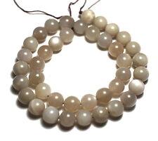 "15.5"" White Natural ShIny Moonstone Sunstone Round ~39/40 Beads 10mm K3234"