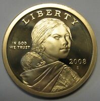 2008-S Sacagawea Native American Dollar Gem DCAM Proof Bargain Priced FREE S&H