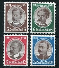 GERMANY 3rd REICH 1934 REMEMBRANCE OF THE COLONIES SCOTT 432-435 PERFECT MNH