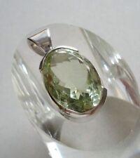 Anhänger mit Prasiolith, 925er Silber - grüner Amethyst-