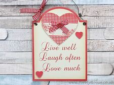 Live Laugh Love … plaque sign