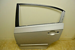 2007-2012 Nissan Sentra Used Driver's Side Left Rear Door Shell With Both Hinges