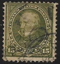 2v0088 Scott 284 US Stamp 1895 15c Clay Used