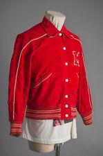 Vtg Butwin Jacket Red Corduroy Stadium Jacket Size 16 Reversible
