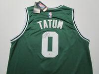 JAYSON TATUM / AUTOGRAPHED BOSTON CELTICS PRO STYLE BASKETBALL JERSEY / COA