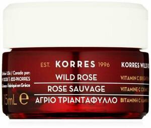 Korres Wild Rose Brightening Eye Cream Moisturizer 0.5 Oz Full Size 15 mL NIB