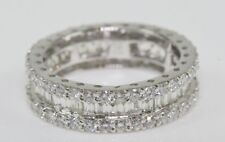 BAGUE AVEC BRILLANTS 18 kt. Or,or blanc anneau de la mémoire Diamants Femme