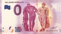 BILLET 0 ZERO EURO SCHEIN SOUVENIR 300 JAHRE HERKULES 1717-2017   2017-1
