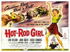 MOVIE FILM HOT ROD GIRL REBEL DRIVE CAR THRILLER ART PRINT POSTERBB6628B