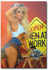 "Sexy Women At Work Vintage Fridge Toolbox Magnet Size 2.5"" x 3.5"""