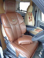 FIAT DUCATO 2014 MOTORHOME SEAT COVERS ROSSINI YMDX SPORTS BROWN MH-503