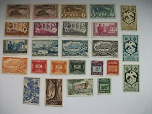 France lot of 25 French Equatorial Africa MH Stamps