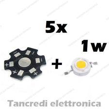 5X Chip led 1W bianco caldo 350mA 3V 3.6V dissipatore alluminio lampadina bulb