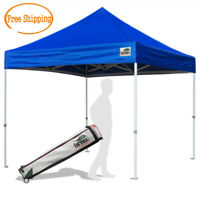 Heavy Duty 10X10 Ez Pop Up Canopy Instant Shade Commercial Tent W/ Wheeled Bag