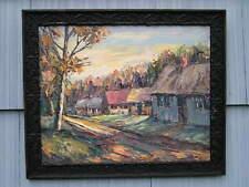 Vintage Mid Century Modern Signed Oil Painting Herman Charles Beaver 1989 16~20