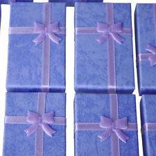 12x Purple Card Jewelry Gift Box for Pendant Bracelet Bangle Earring Wedding LW
