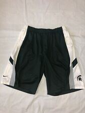 Vintage Michigan State Spartans Nike Shorts Men 2Xl Basketball Green Gym