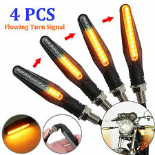 4x Motorcycle LED Turn Signal Lamp Sequential Flowing Indicator Light Amber 12V