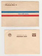 Vintage Western Star Stationary Air Mail Envelope Unused Burlington Route
