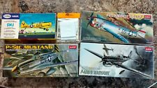 Lot of 4 -1/72 WW2 Aircraft Kits Academy/Testors