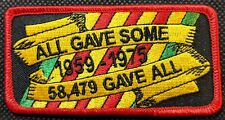 All Gave Some 58479 Gave All POW MIA KIA Embroidered Biker Patch