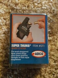ADCO ST1 Black Super Thumb Mag Loader for Browning High Power 9mm pistol mags