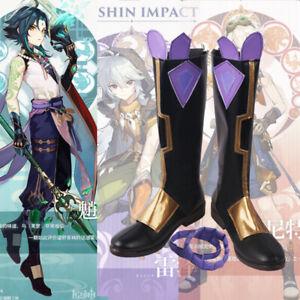 Mandrill Xiao Genshin Impact Cosplay Kostüm Costume Schuhe Shoes Stiefel Boots