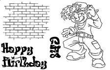 Rubber stamps teenage boy graffiti