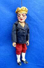 Antique Perfection Marionettes Czechoslovakia Traveler Hiker Bedroll Metal Rod
