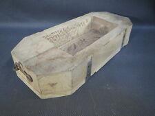 Ancien moule à beurre bois dessin sculpté art populaire paysan old butter mold