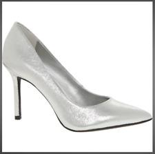 Increíble Katy Perry lámina de plata en Punta Tacón Stiletto Zapatos Talla 6 Nuevos Y En Caja De Moda