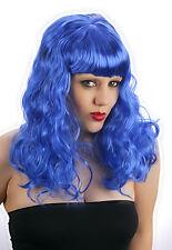 Pour femme Bleu California Girl Style Katy Perry Perruque Costume Robe fantaisie