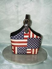 Vintage Looking Wine Bottle Caddy/Storage Basket   HSTBA-185 Flag