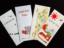 12 Theme Money / Gift Card Holders Envelopes Holidays Birthday Valentines Easter