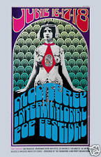 Classic Psychedelic  Rock Festival : Monterey Pop Concert Poster Circa 1967