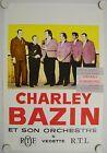 Affiche CHARLEY BAZIN Accordéon Orchestre Années '50 '60