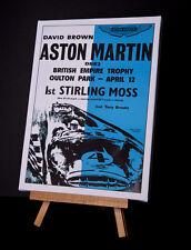 ASTON MARTIN / MOSS Toile imprimer étirées et encadrées