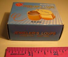 JEWELER'S LOUPE 2004 GOLD TONE LOUPE NEW IN BOX & ORIGINAL PACKAGING POWER 10X