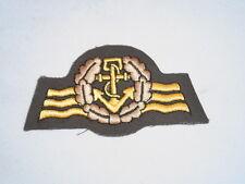 Blu marina esercito Abz. Marinara Personal - oliva / bronzo, Ricamato macchina