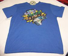 DC Comics Joker Vs Batman Mens Blue Printed T Shirt Size L New